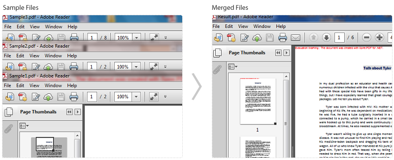 Merge png to pdf windows. Selected pages from multiple