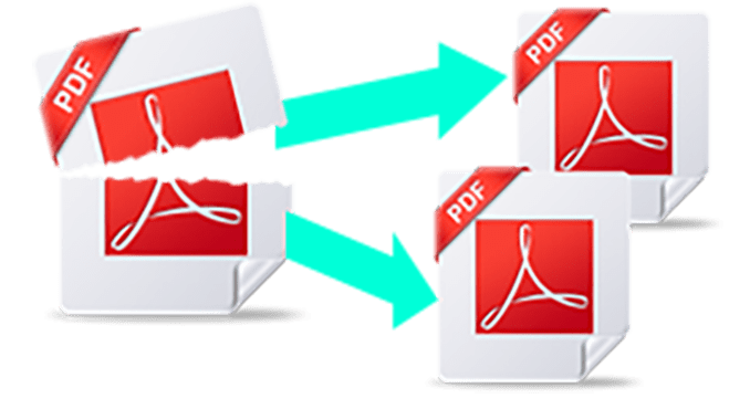 Merge png files into one. Split or pdf file