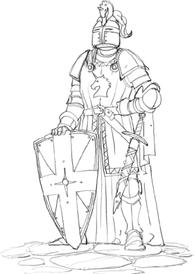 Drawing knight. Rules and faq shadows