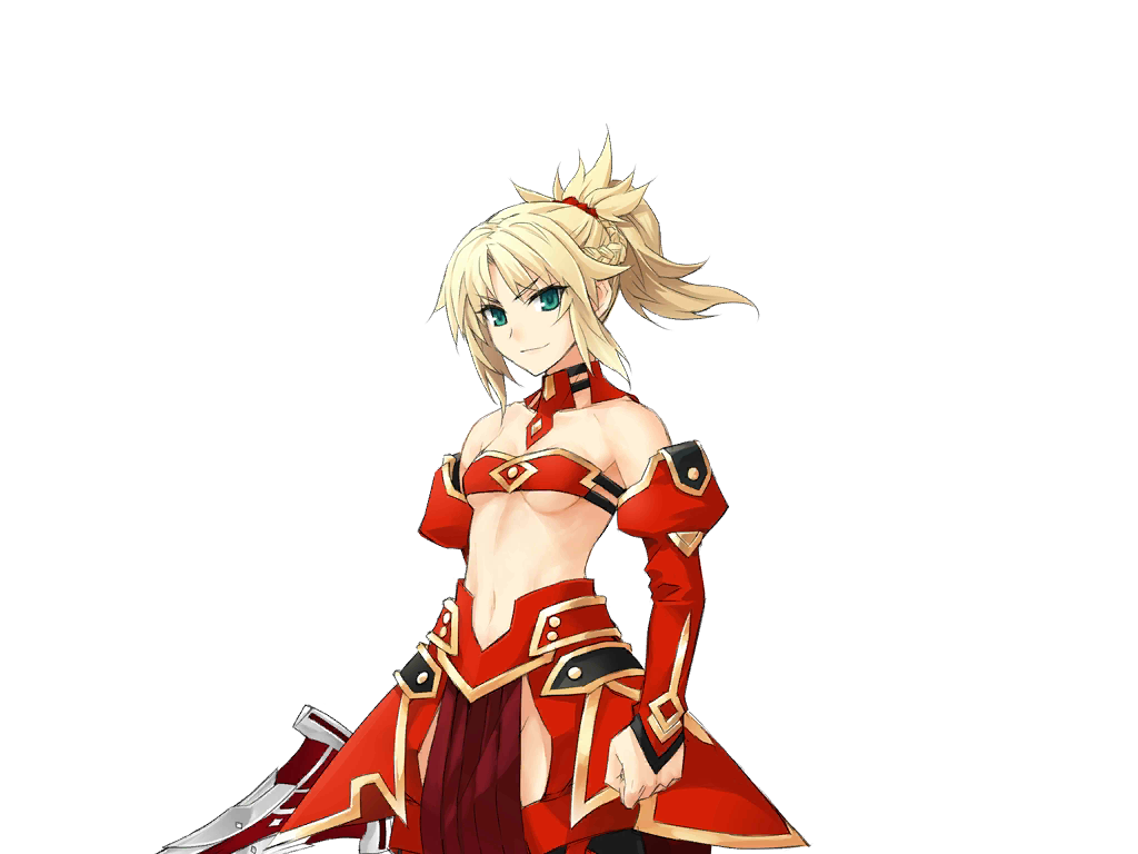 Merlin drawing mordred. Saber of red type