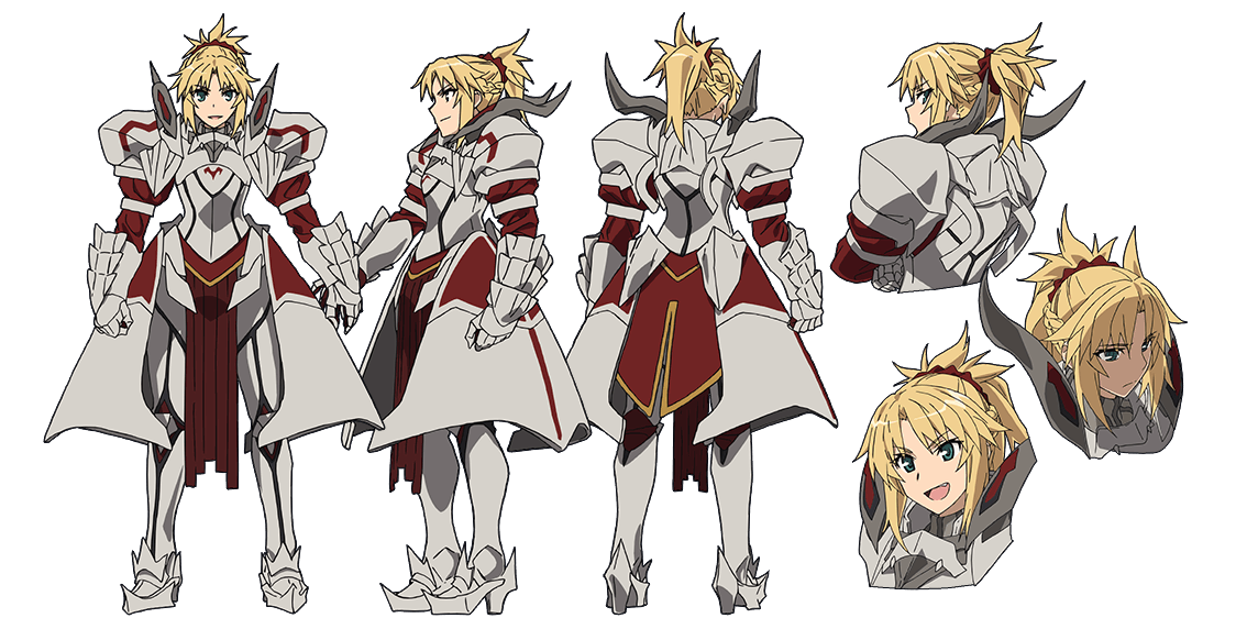Merlin drawing mordred. Saber of red character