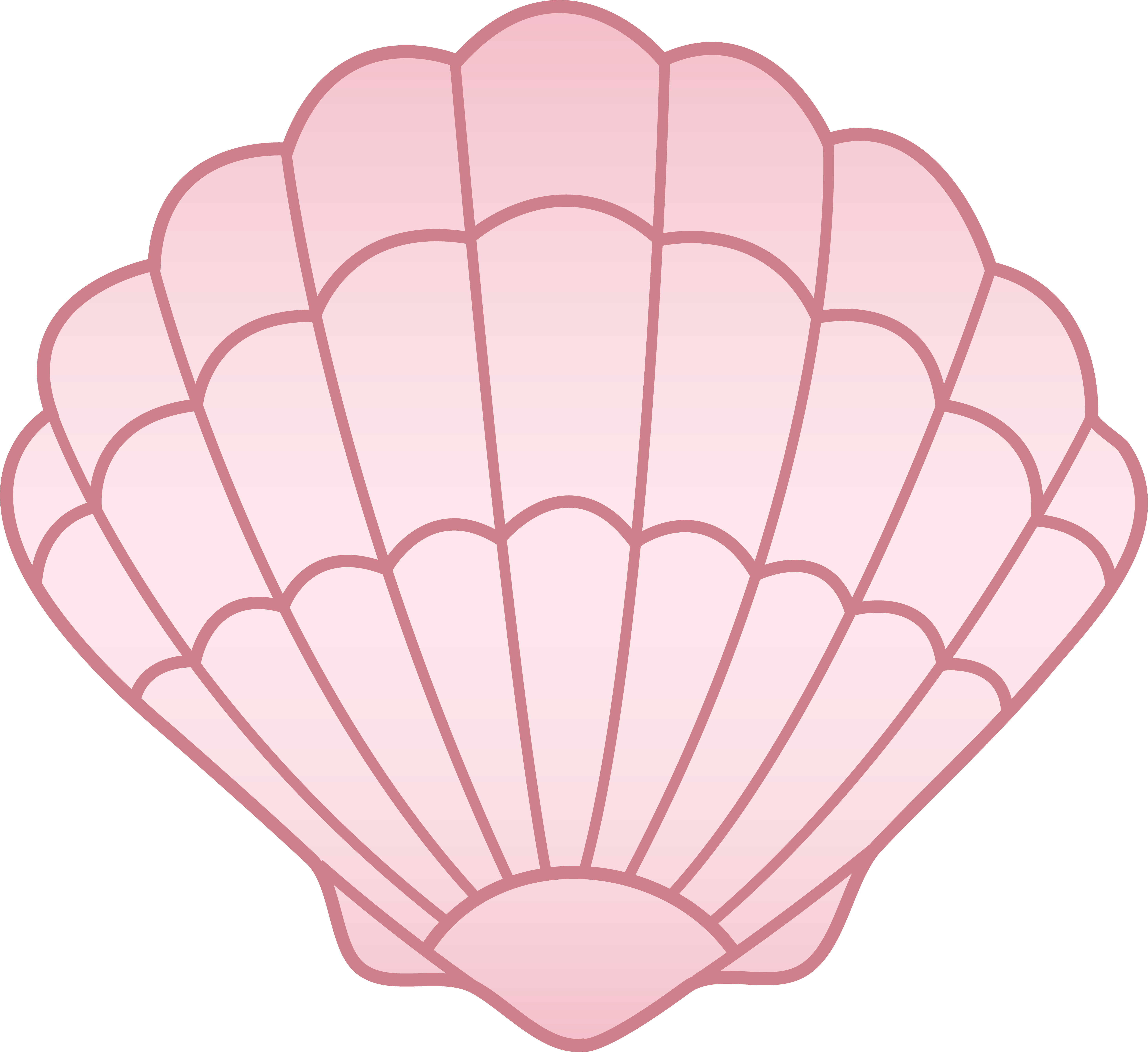 Mermaid clipart clam. Pink seashell free clip