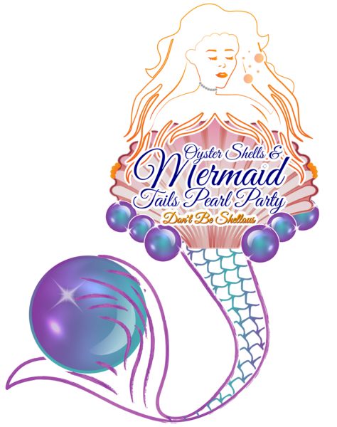 Mermaid clipart pearl. Oyster shells and tails