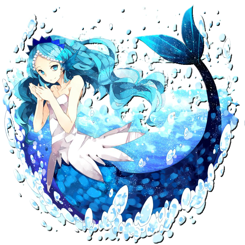 Mermaid png blue. Girl anime by cristhal
