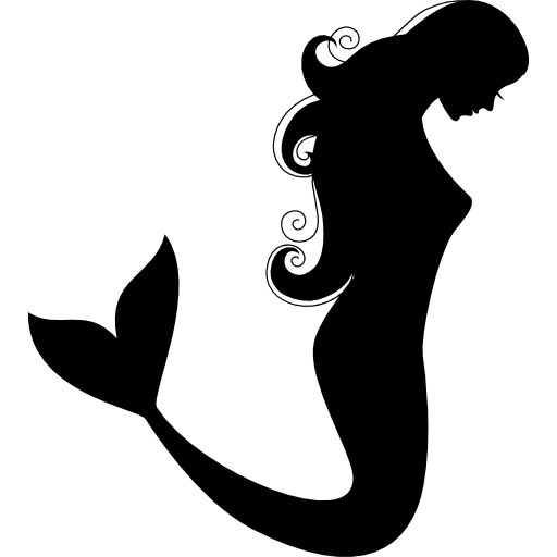 Mermaid silhouette png. Free clip art at