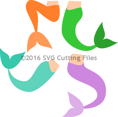 Tails . Svg mermaid banner library stock