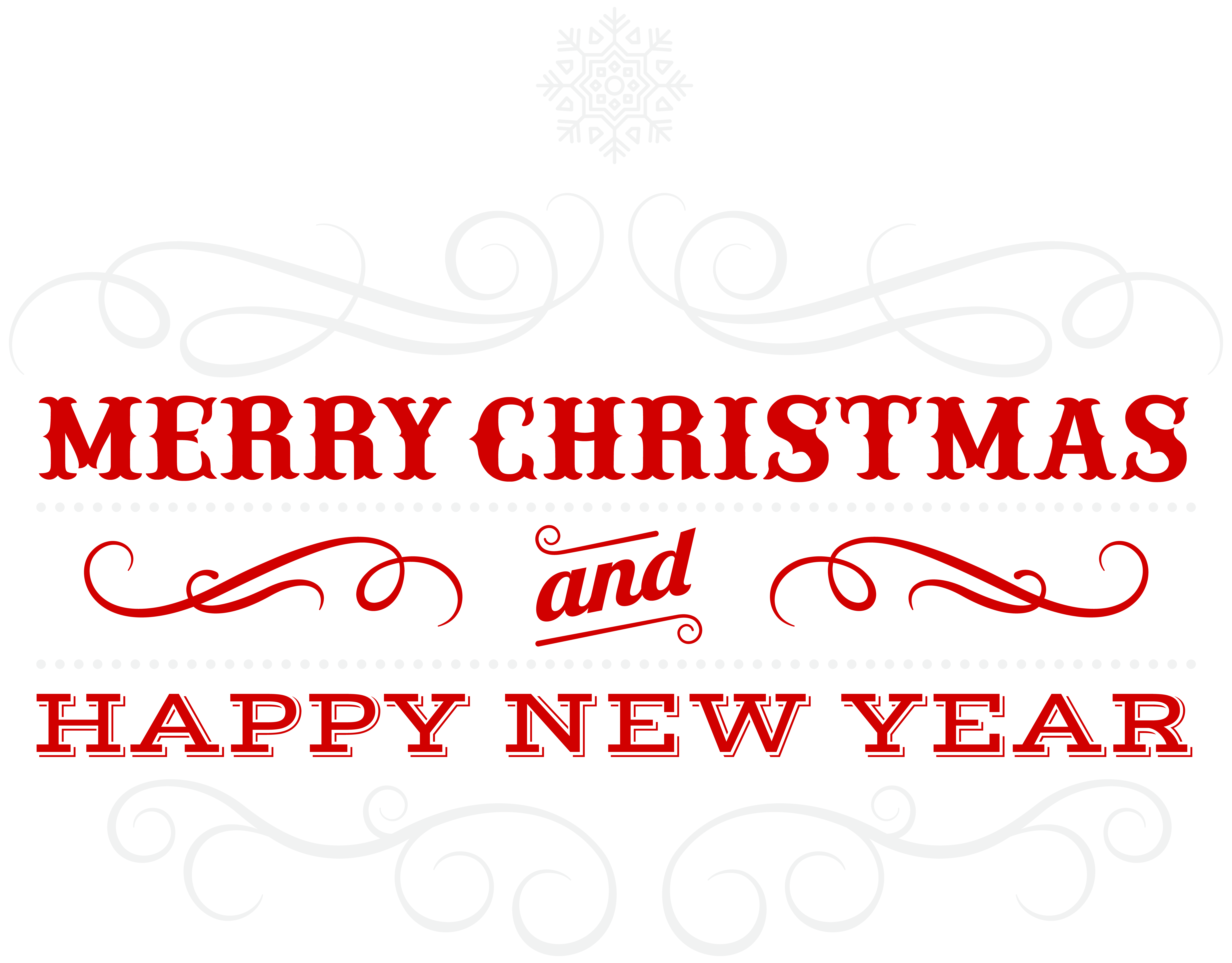 Merry christmas and happy new year png. Transparent clip art image