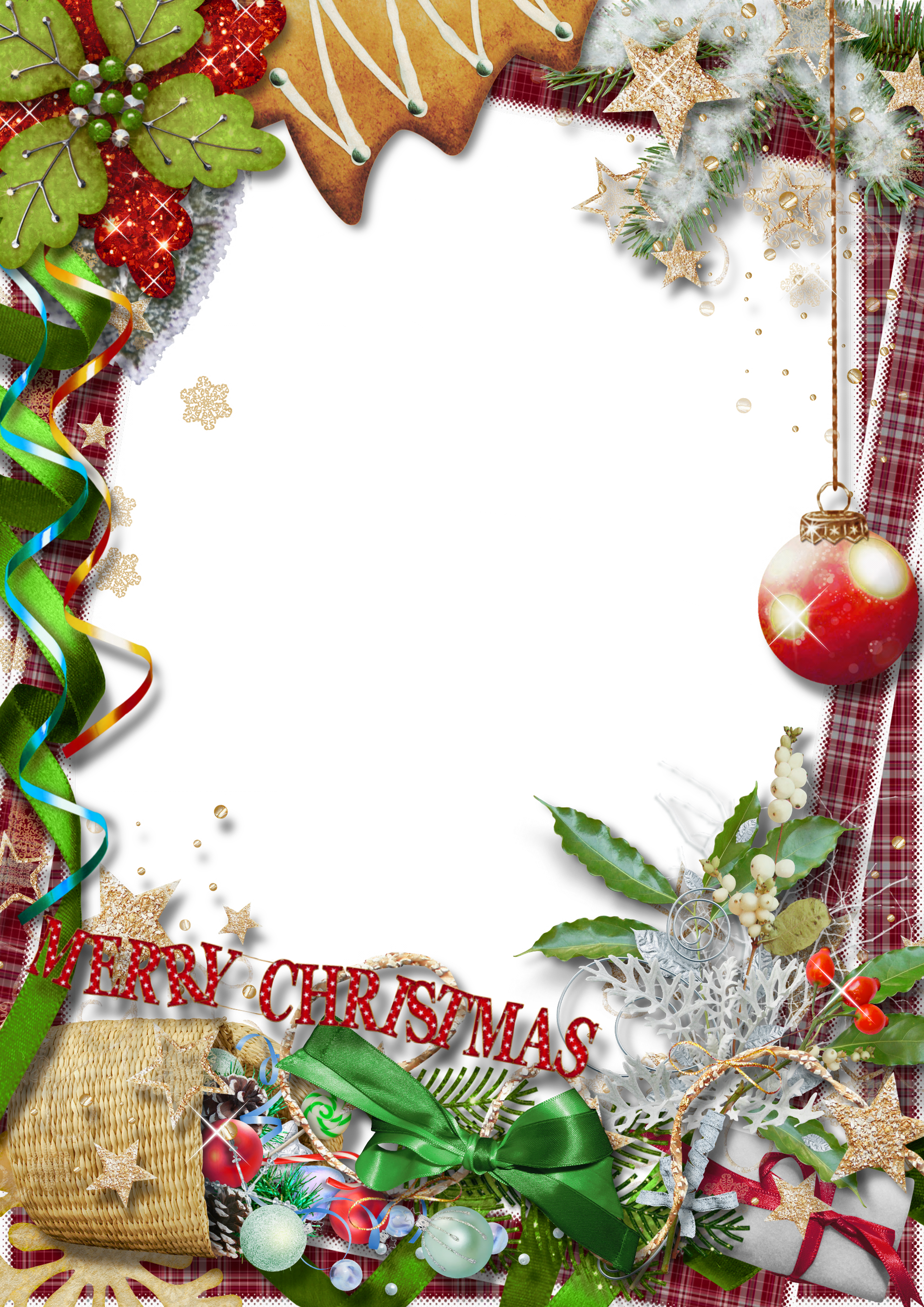 Merry christmas frames and borders png. Photo frame with green