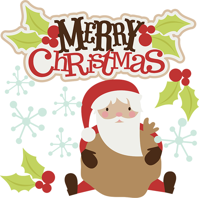 Merry christmas clipart round. Svg santa cute clip