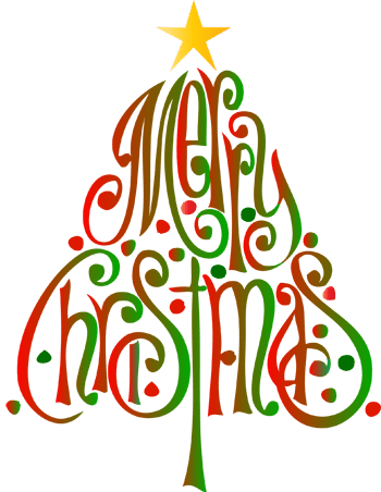 Merry christmas clipart tree