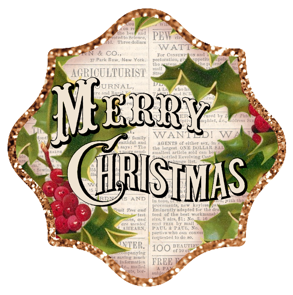 Merry christmas clipart vintage. Clip art free collection