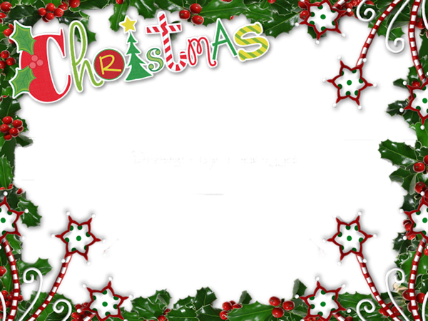 Merry christmas frames and borders png. Transparent photo frame n