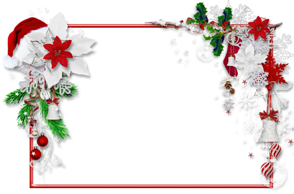 Merry christmas frames and borders png. Photo frame with santa