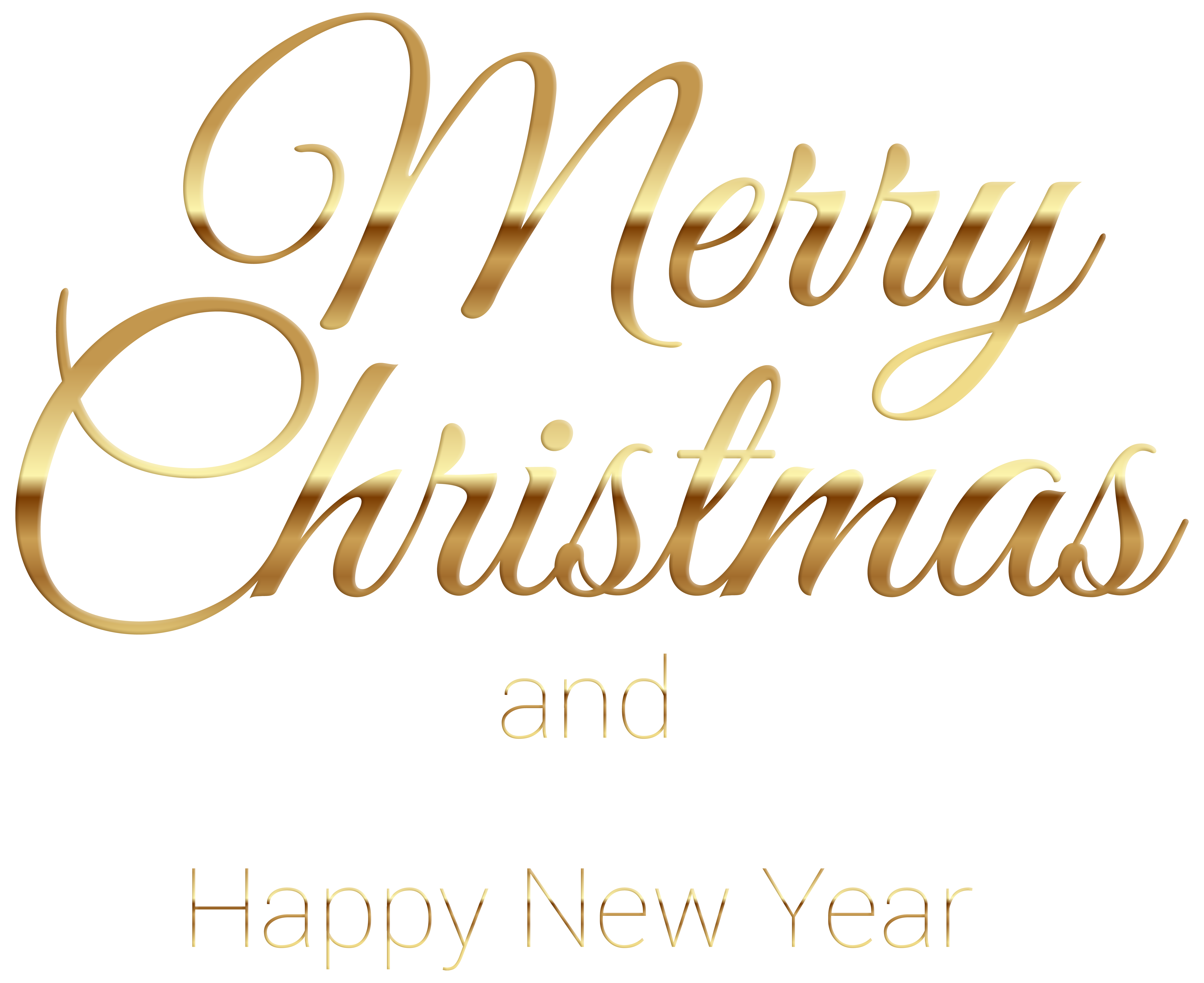 Merry christmas gold png. Transparent clip art gallery