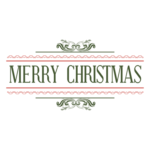 Merry christmas logo png. Decorative seal transparent svg