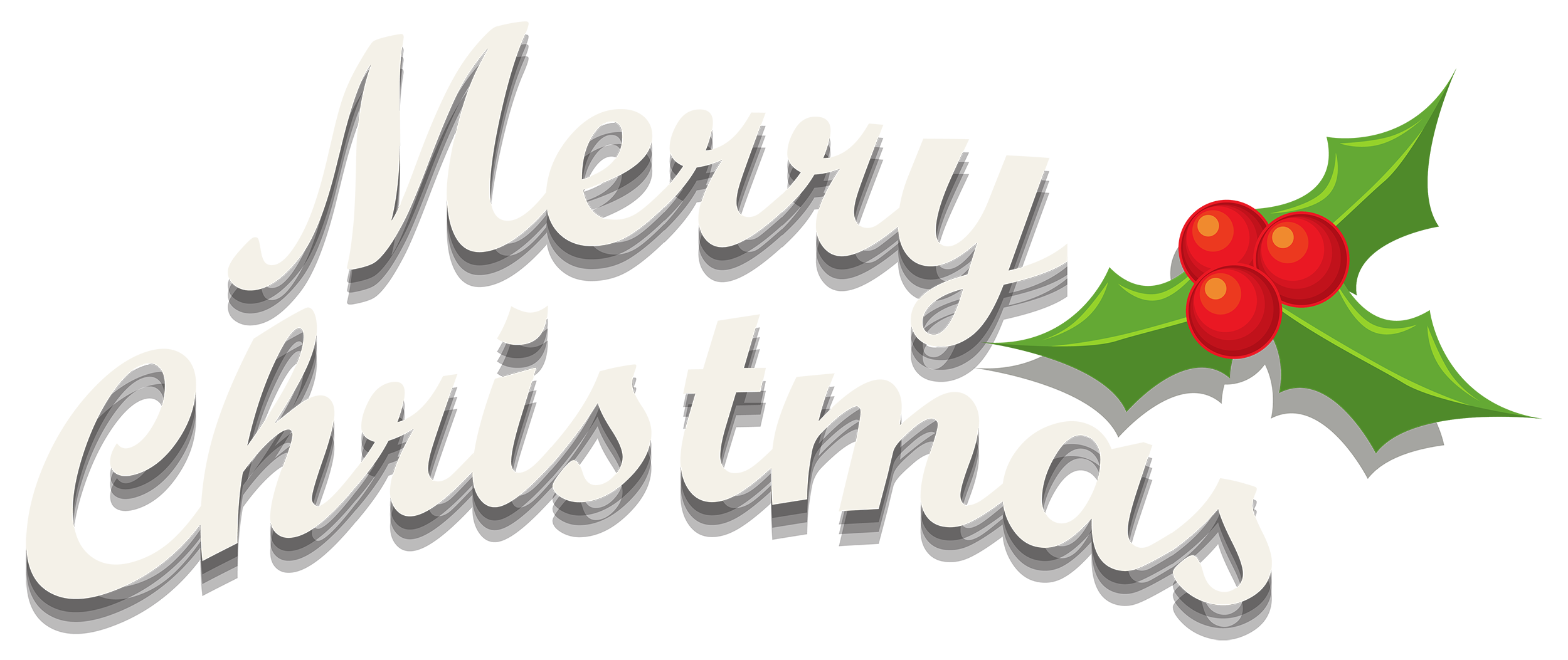 Merry christmas png. Decor with mistletoe clipart