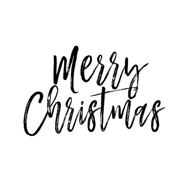 Merry christmas png black transparent. Text overlay clip art