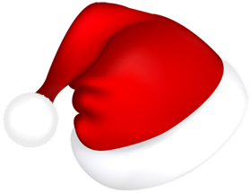 Merry christmas png cap. Psd vector design with