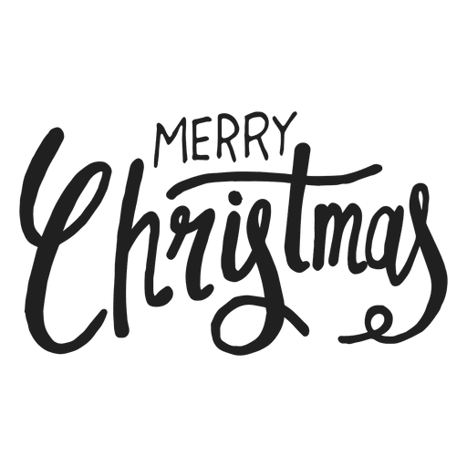 Merry christmas text png. Transparent svg vector