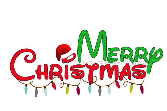 Neon transparent merry christmas. Png text and effects