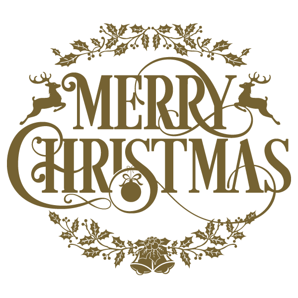 Merry christmas vintage text png. Image