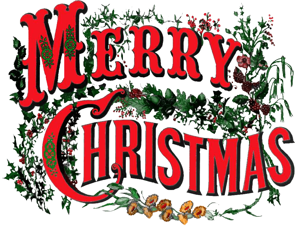 Merry christmas vintage text png. Circus style transparent stickpng