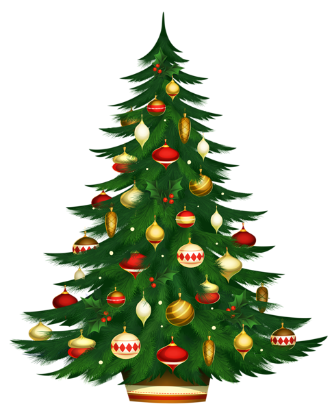 cartoon christmas tree png