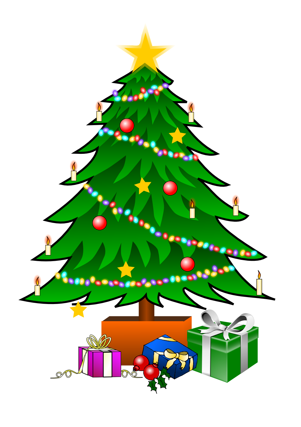 Merry clipart of xmas. Toys vector christmas tree graphic free