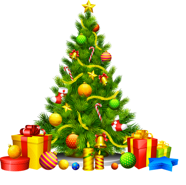 Merry clipart christmas tree ornament. With presents at getdrawings