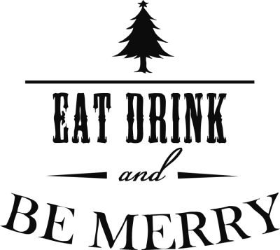 Eat drink and be merry png. Clipart