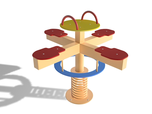 Merry clipart roundabout playground. Go round d model
