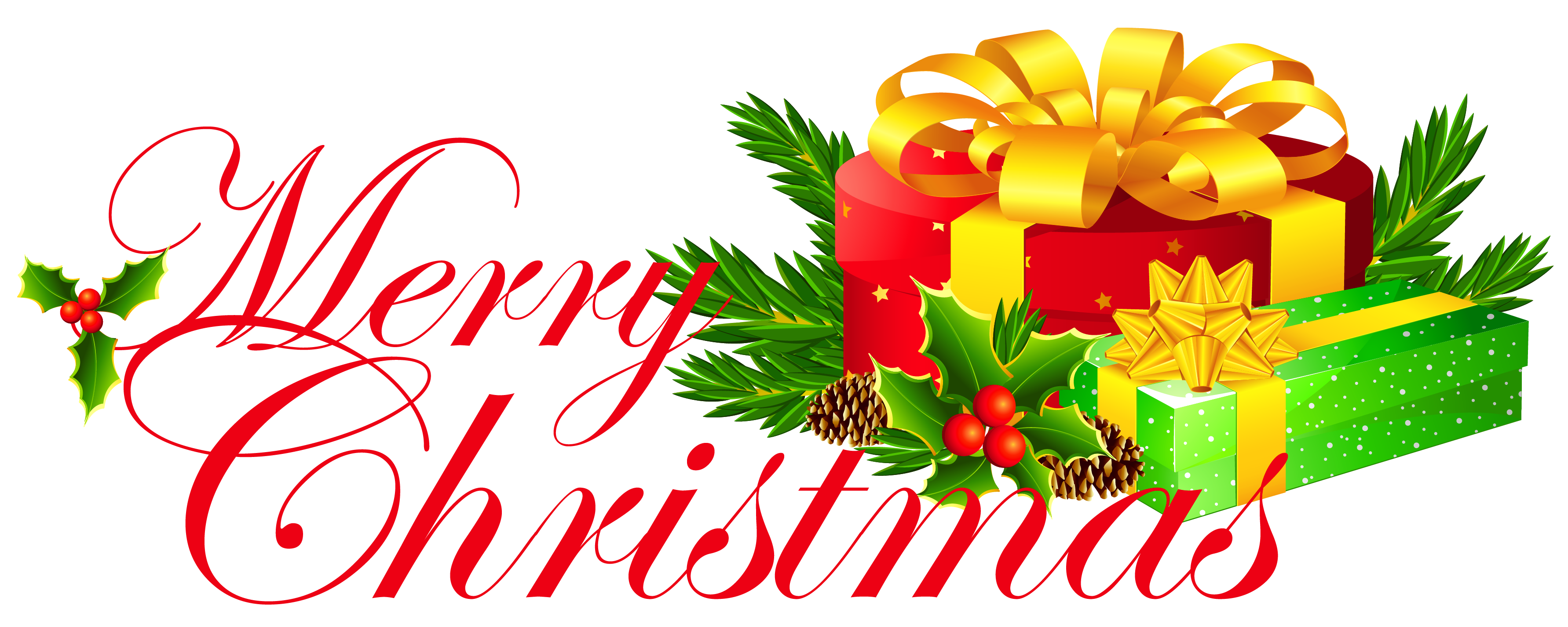 merry christmas clipart transparent background