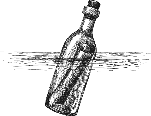 message in a bottle png