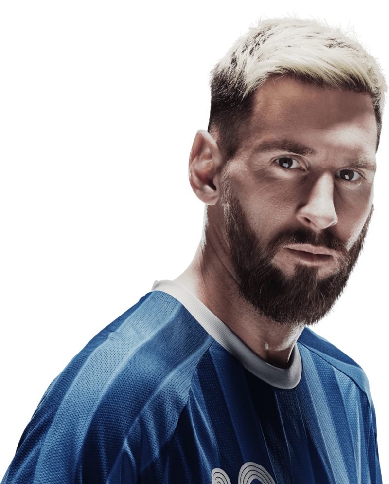 Messi face png. Exclusive leo adidas blue