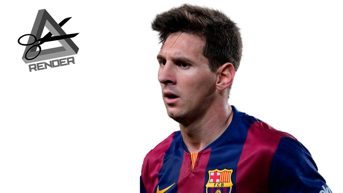 Messi face png. Lionel render barcelona by