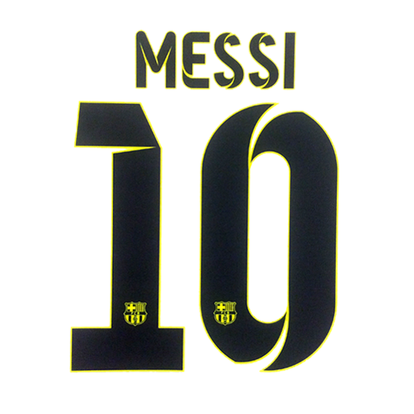 Messi logo png. Barcelona away name set
