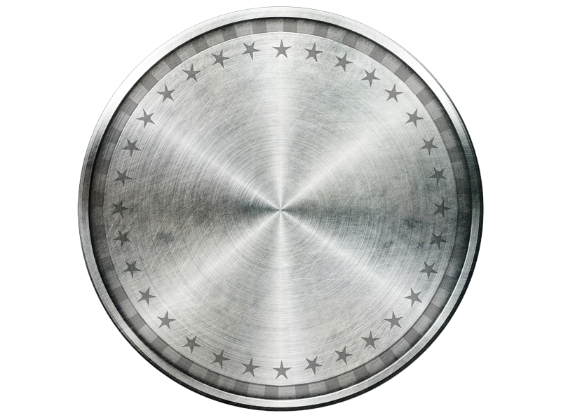 Metal circle png. Iron shield isolated objects