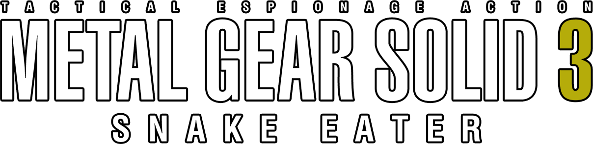 Metal gear solid 3 logo png. Snake eater details launchbox