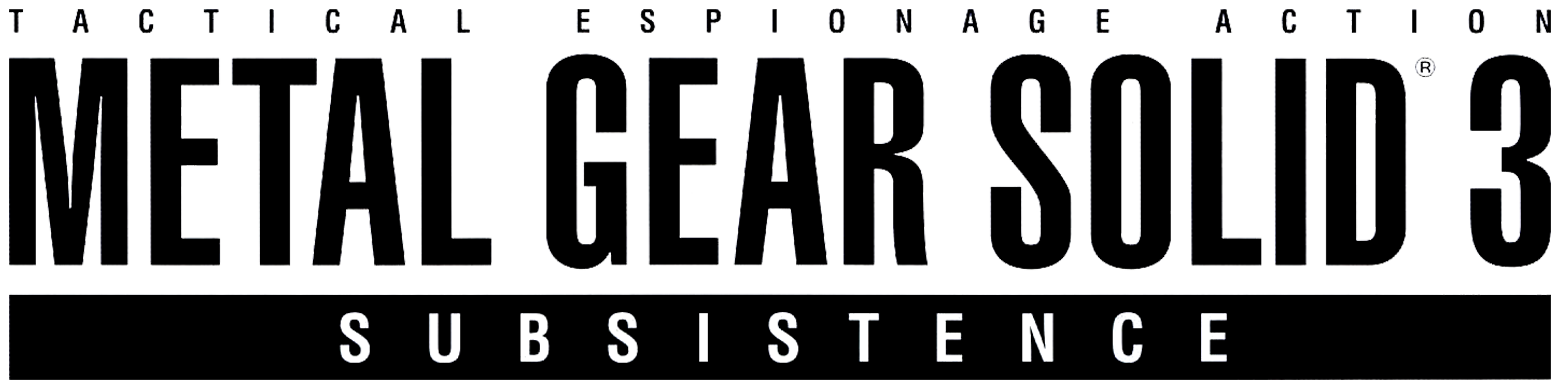 Metal gear solid 3 logo png. Image subsistence ape escape