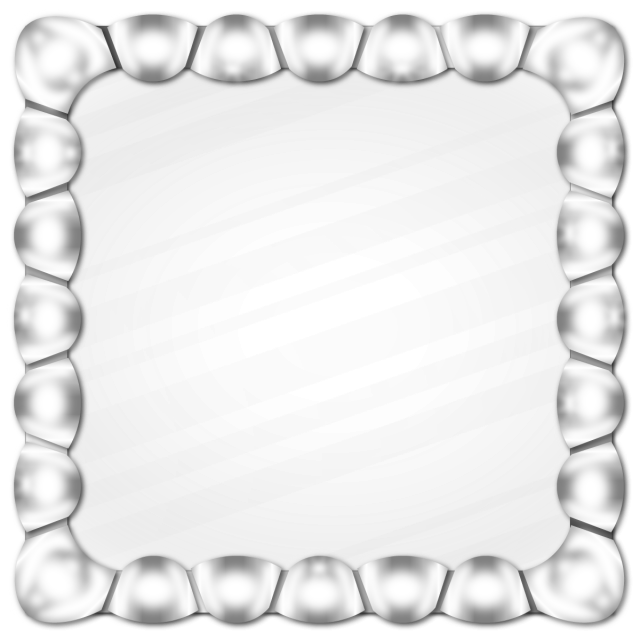 Vector effect black and white. Silver metal frame shiny