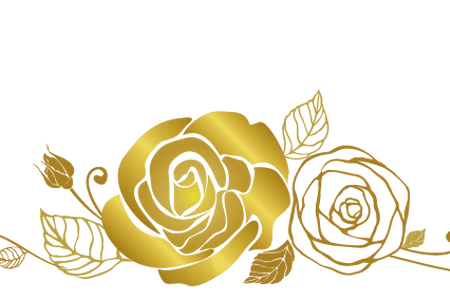 Metallic vector rose gold. Flowers clipart k pictures