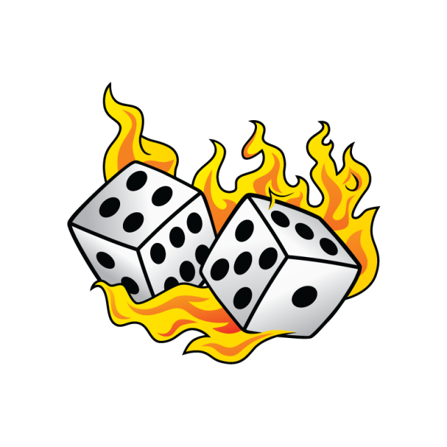 Fuego vector png. Burn flame fire dice