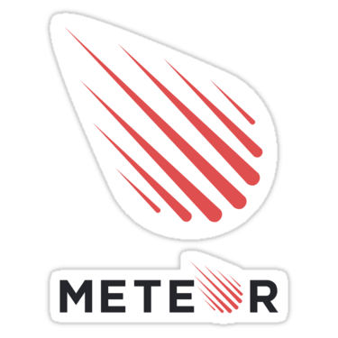 Meteor js png. Stickers and t shirts