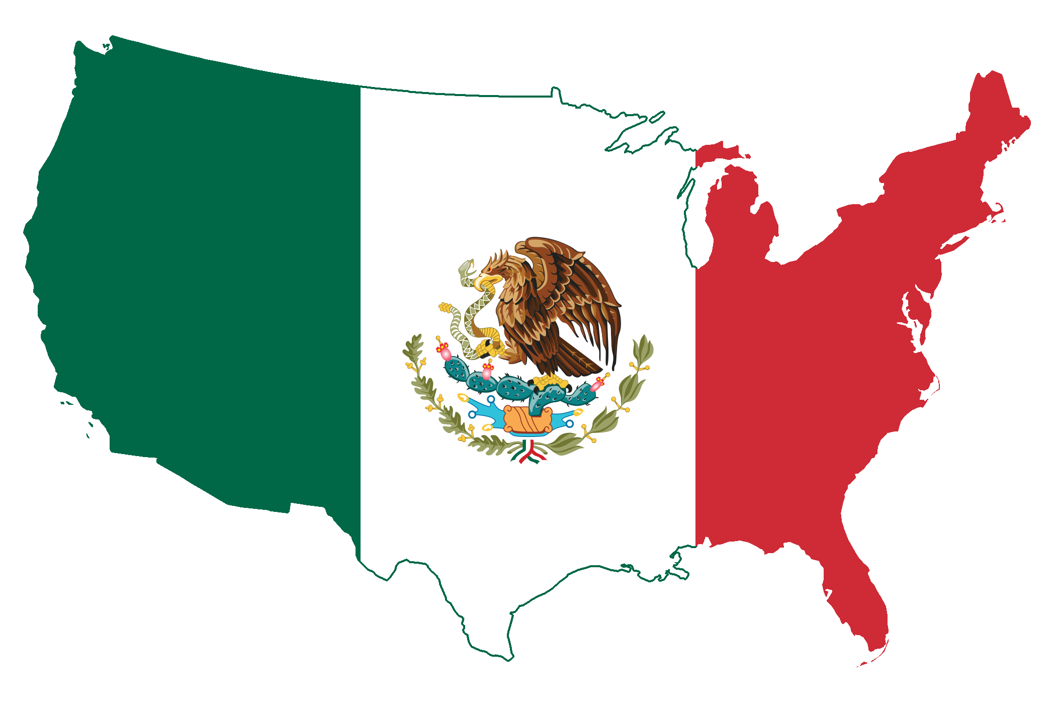 Mexican american flag png. I am and proud