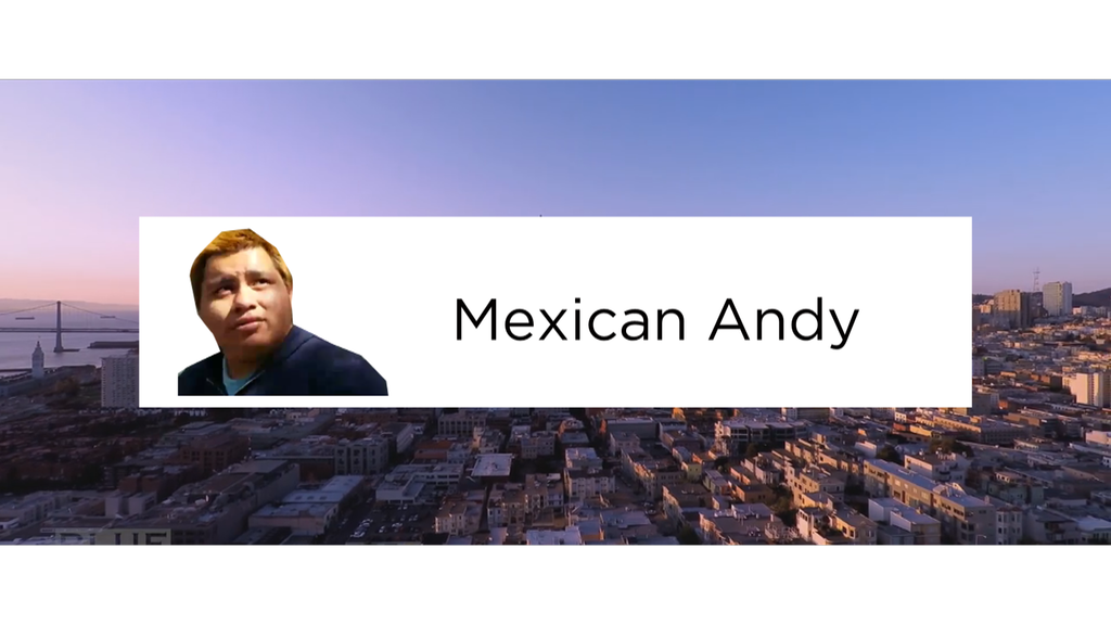 Mexican andy png. Editing rv trip finale
