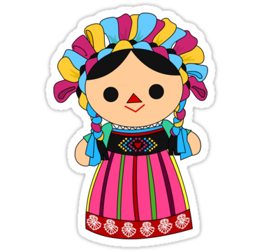 Mexican baby png. Maria doll sticker by