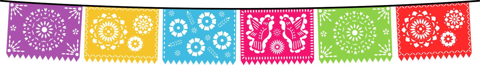 Papel picado fiesta png. Collection of mexican