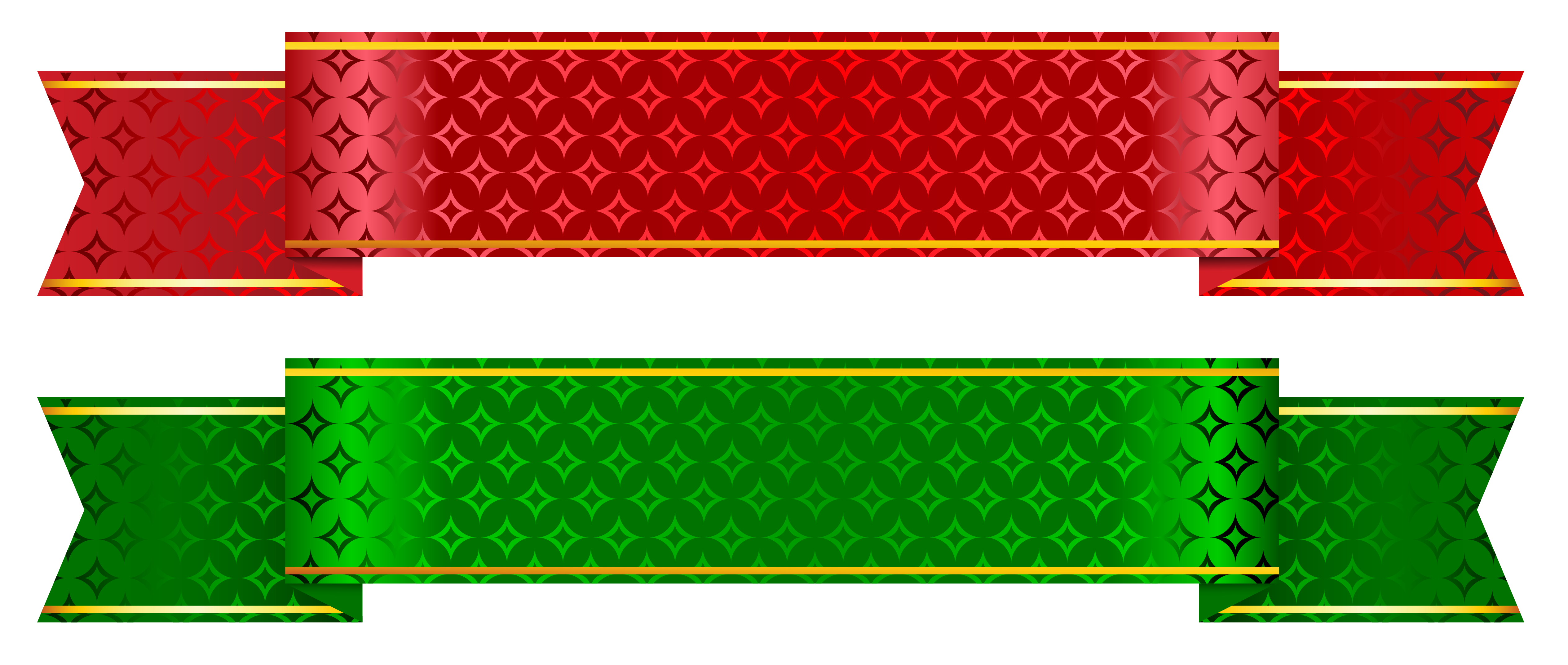 Mexican banner png. Green and red set