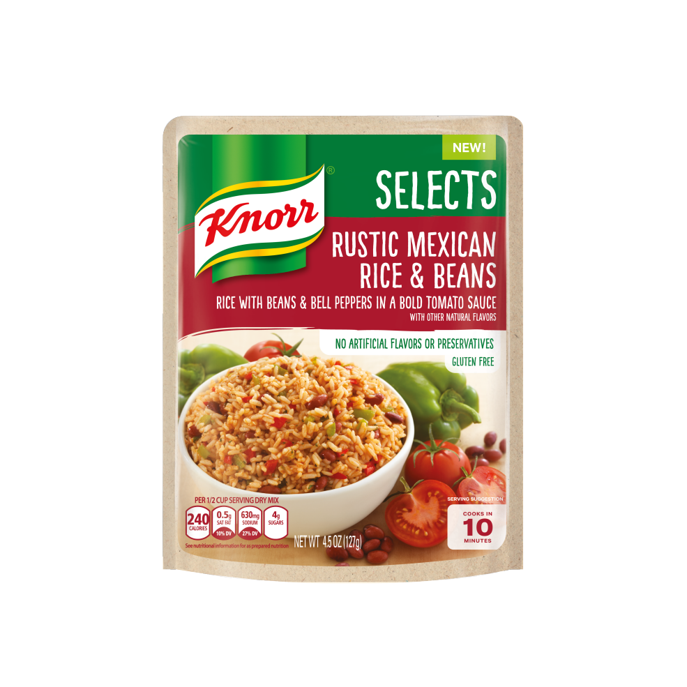 Mexican beans png. Knorr selects pasta tomato