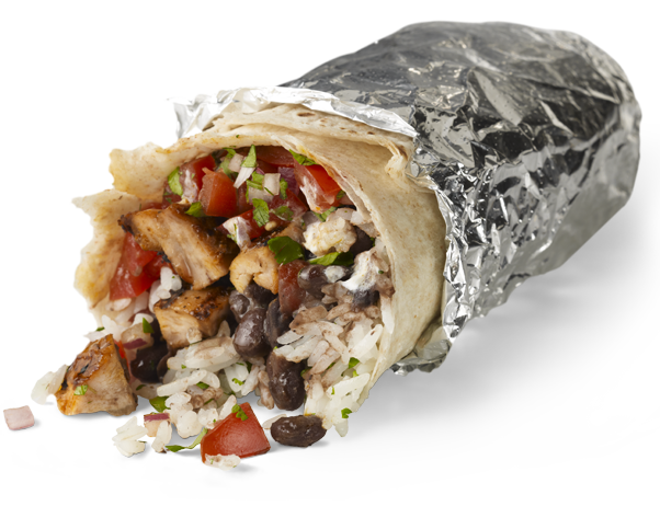 Mexican burrito png. Chipotle grill gourmet burritos